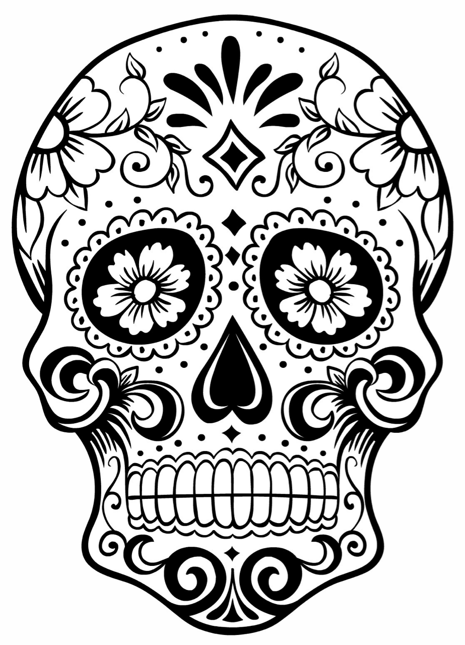 Day of the dead black and white clipart png freeuse download Free Day Of The Dead Clipart Black And White, Download Free Clip Art ... png freeuse download