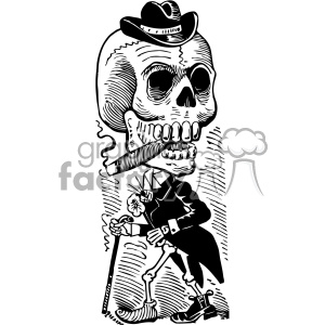 Day of the dead black and white clipart image library Jose Guadalupe Posada skull vector art 1900 day of the dead clipart.  Royalty-free clipart # 403138 image library