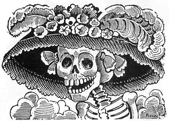 Day of the dead black and white clipart svg royalty free download BLACK AND WHITE DAY OF THE DEAD CLIP ART | Symbols of the Day of the ... svg royalty free download