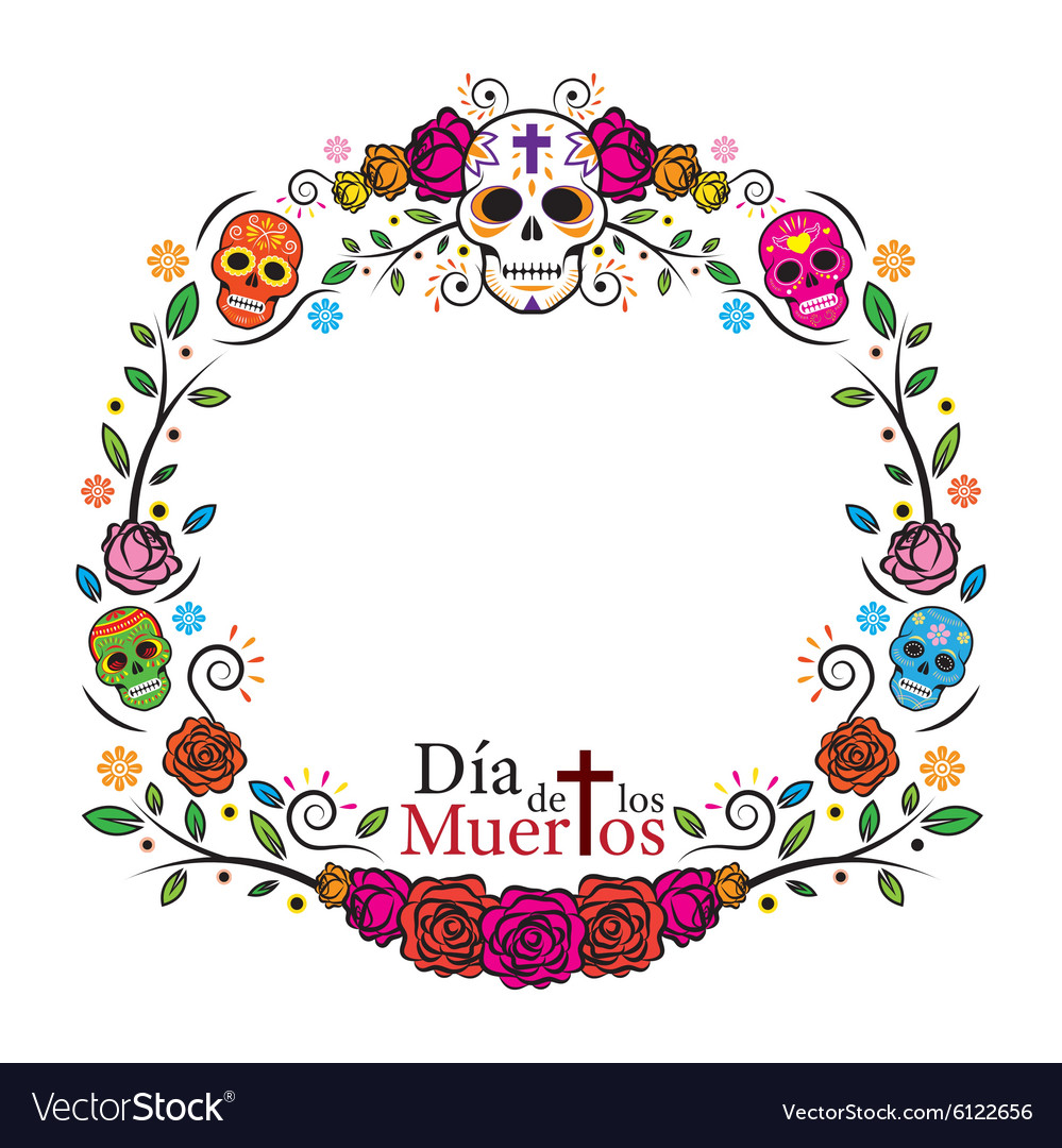 Day of the dead border clipart