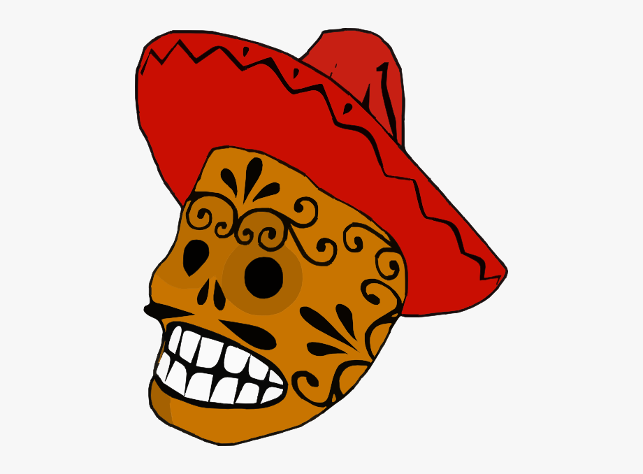 Day of the dead border clipart svg transparent download Clipart Skull Borders - Mexican Clipart The Day Of The Dead #379248 ... svg transparent download