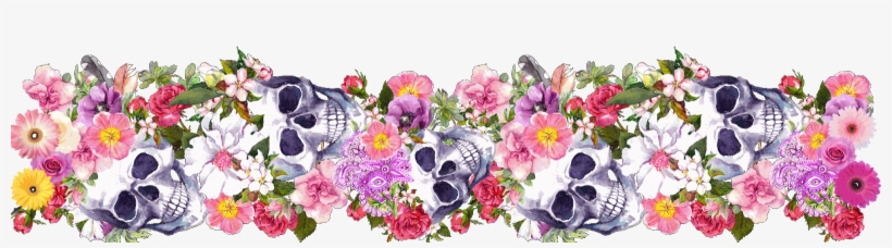 Day of the dead border clipart graphic free library Clipart Skull Watercolor - Day Of The Dead Border Transparent PNG ... graphic free library