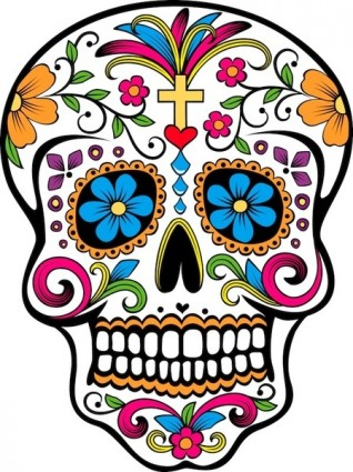 Day of the dead border clipart clipart black and white Free Day Of The Dead Clipart, Download Free Clip Art, Free Clip Art ... clipart black and white
