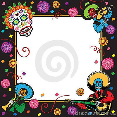 Day of the dead border clipart svg transparent library Day of the Dead party invite. I will use this as a border. | Dia de ... svg transparent library
