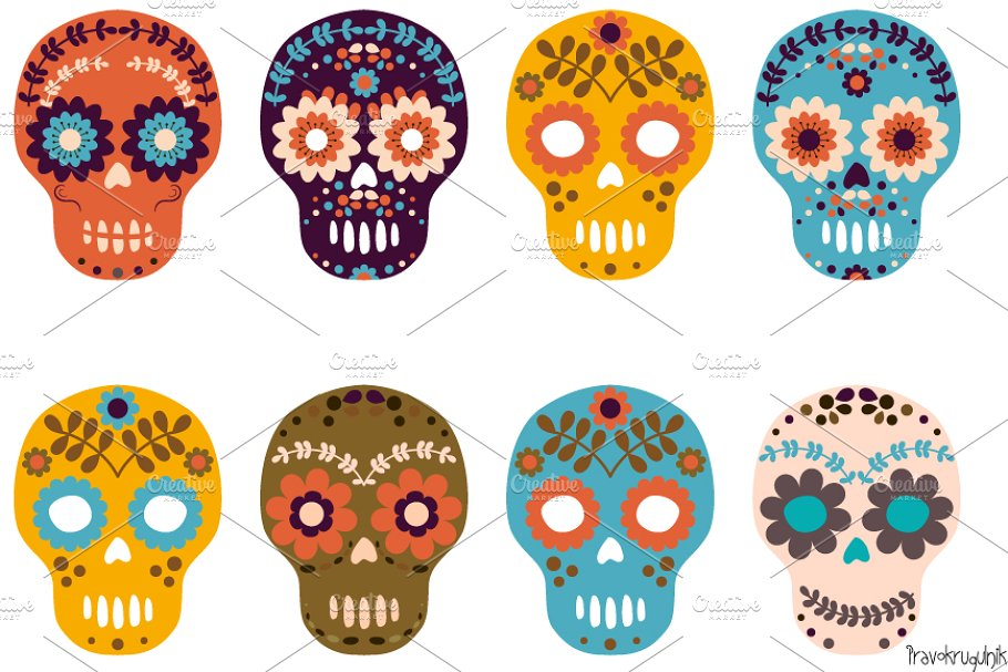 Day of the dead clipart banner freeuse download Sugar skull, Day of the Dead clipart banner freeuse download