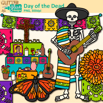 Day of the dead clipart clipart transparent library Day of the Dead Clip Art: Dia de los Muertos Graphics {Glitter Meets Glue} clipart transparent library