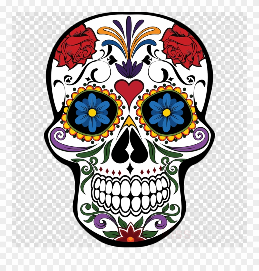 Day of the dead clipart graphic transparent library Download Mexican Day Of The Dead Skull Clipart Day - Mascaras De ... graphic transparent library