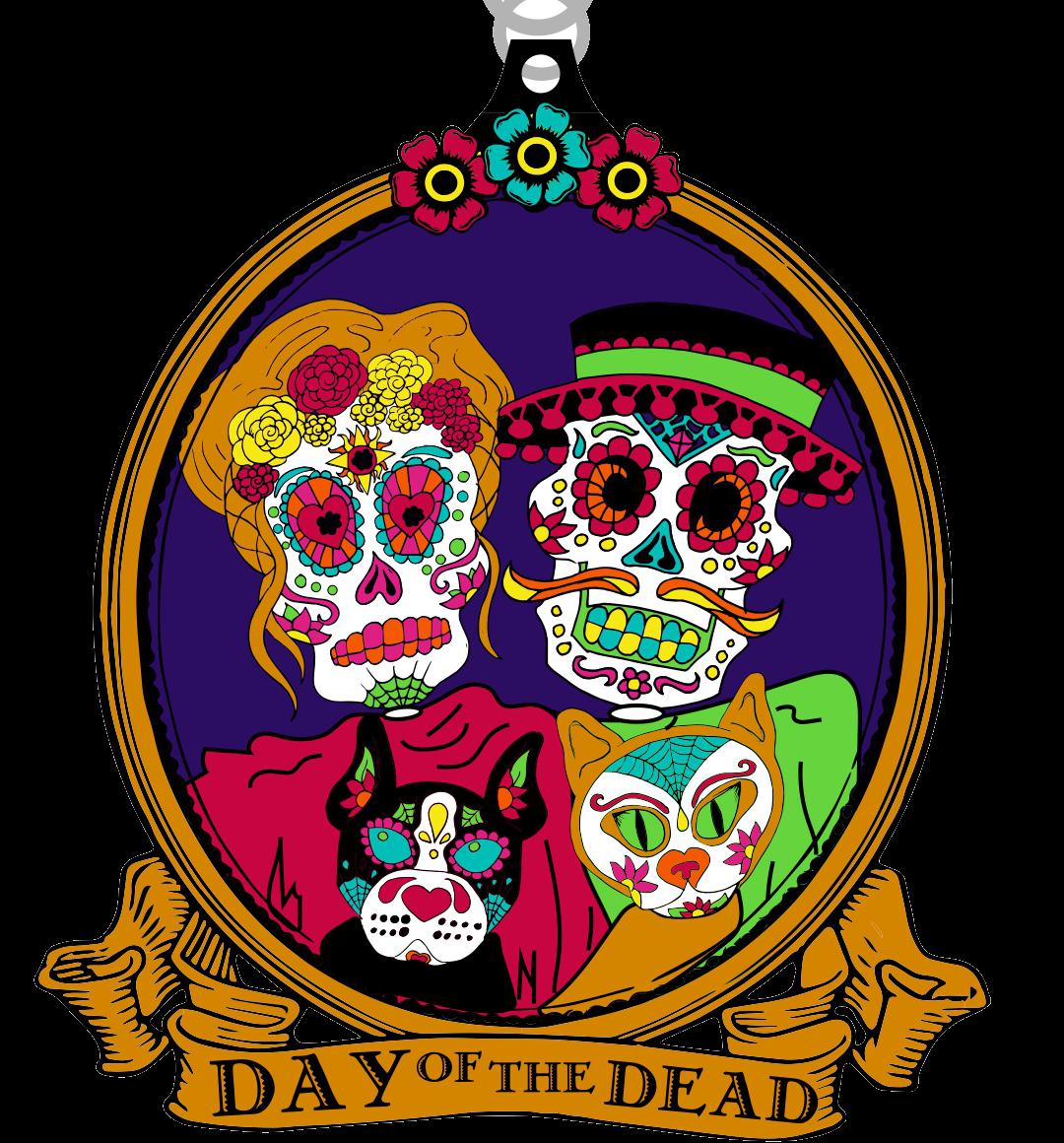 Day of the dead clipart clip 2019 Day of the Dead 1 Mile, 5K, 10K, 13.1, 26.2 - Atlanta clip