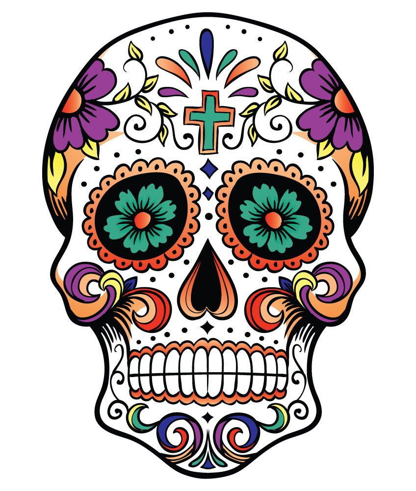 Day of the dead clipart vector library library Giant Cutout Sugar Skulls - ClipArt Best - ClipArt Best | Dia De Los ... vector library library