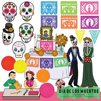 Day of the dead clipart clip art black and white download Dia De Los Muertos Clip Art // Day of the Dead Clip Art clip art black and white download