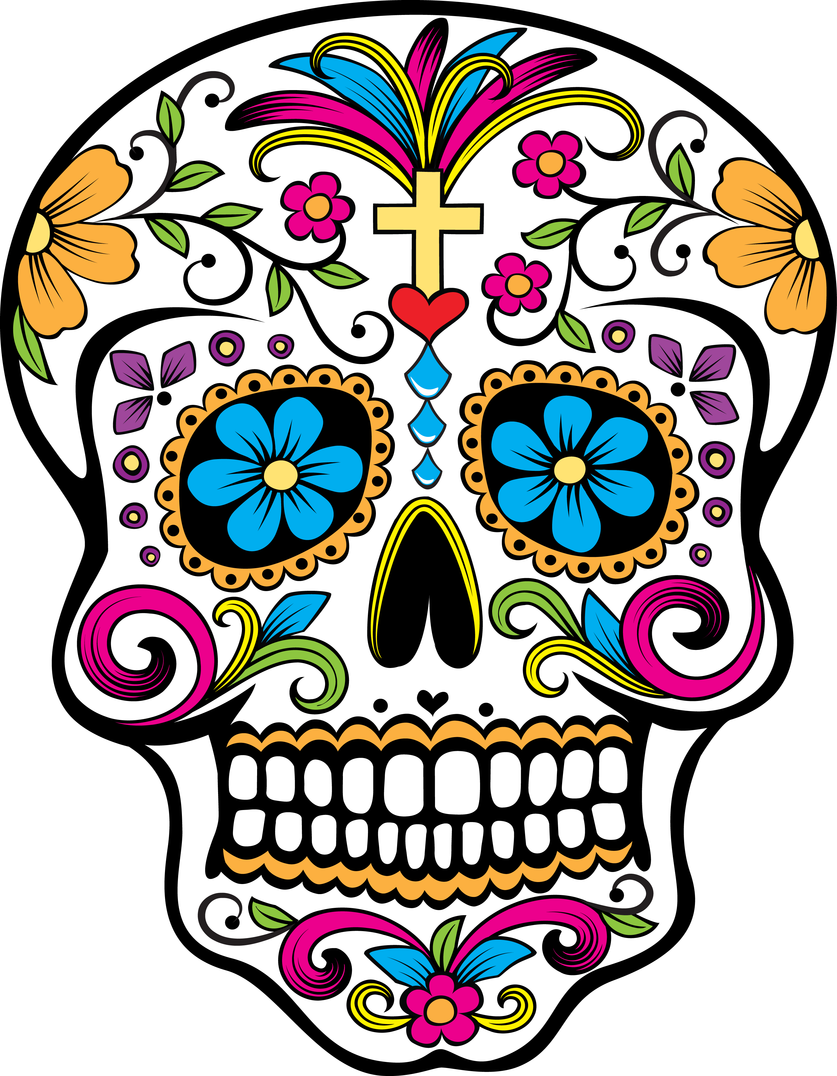 Day of the dead flower clipart royalty free download Day Of Dead Transparent PNG Pictures - Free Icons and PNG Backgrounds royalty free download