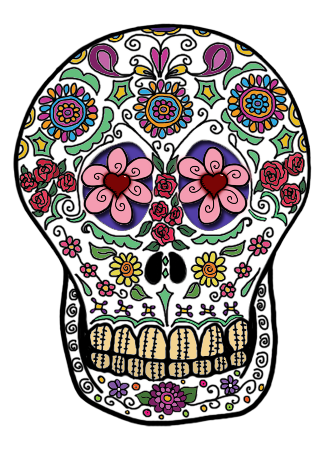 Day of the dead flower clipart clip freeuse stock Day Of Dead Transparent PNG Pictures - Free Icons and PNG Backgrounds clip freeuse stock