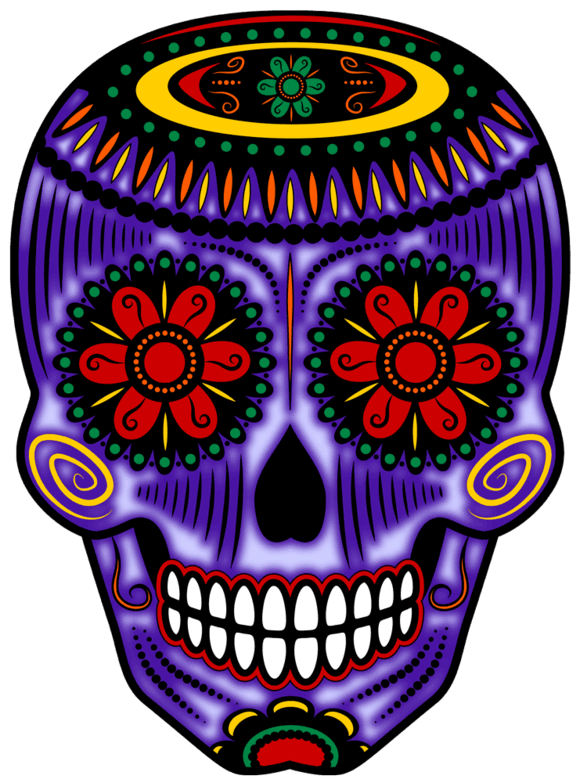 Day of the dead flower clipart picture black and white Day Of The Dead Clipart at GetDrawings.com | Free for personal use ... picture black and white