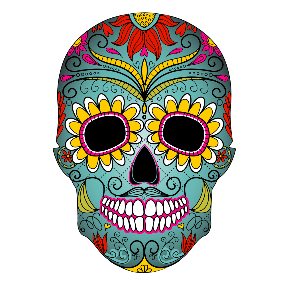 Day of the dead flower clipart black and white stock The Fine Art of Celebrating Death black and white stock