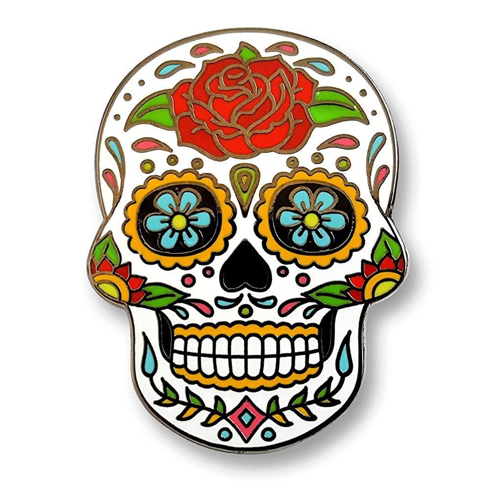 Day of the dead sugar skull clipart clip art freeuse stock Pinsanity Day of The Dead Sugar Skull Enamel Lapel Pin clip art freeuse stock