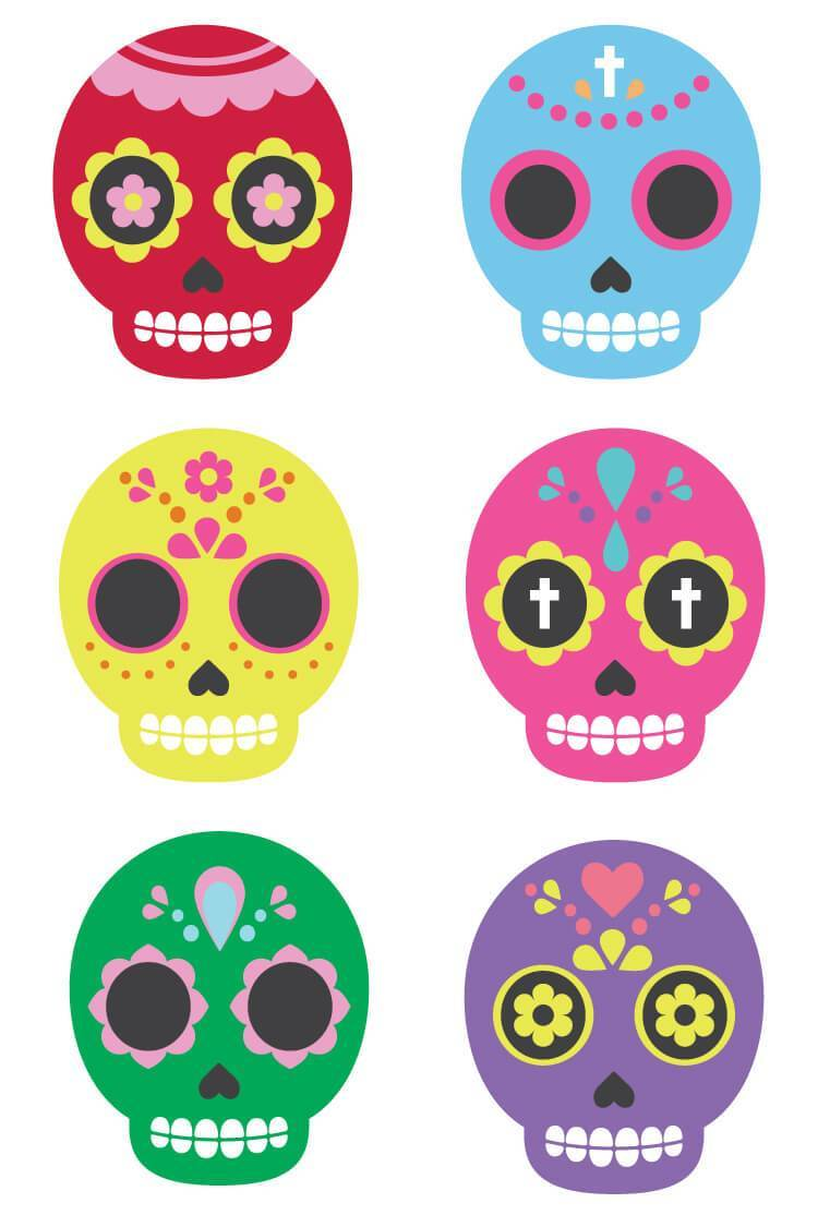 Day of the dead sugar skull clipart png freeuse library Sugar Skull Clip Art - Hey, Let\'s Make Stuff png freeuse library
