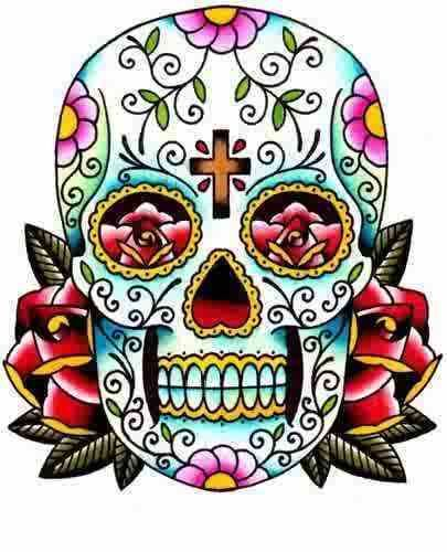 Day of the dead sugar skull clipart clip art black and white Mexican Skull Clipart - Clipart Kid | Dia de los Muertos | Day of ... clip art black and white
