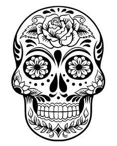Day of the dead sugar skull clipart clip stock Printable Day of the Dead Sugar Skull Coloring Page #3 | Rugs ... clip stock