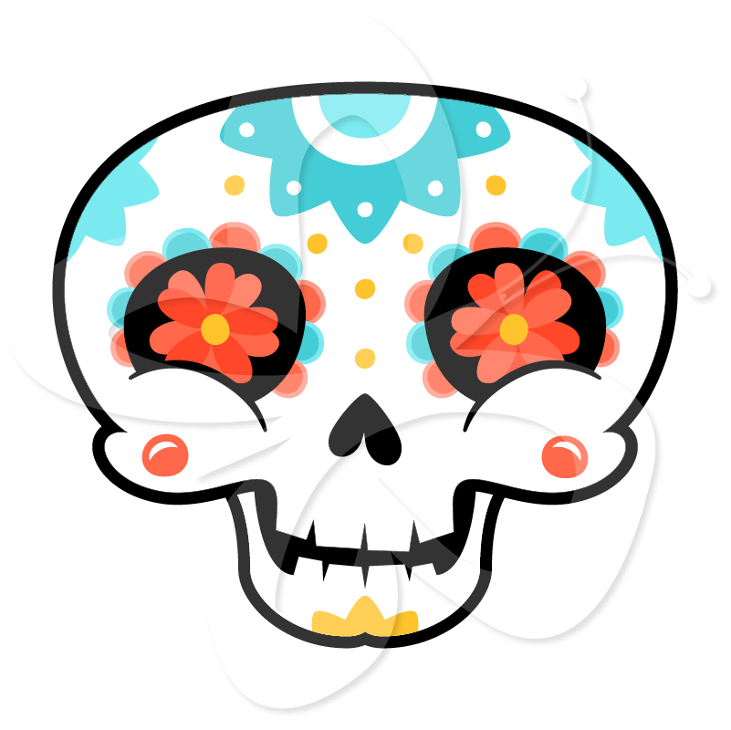 Day of the dead sugar skull clipart graphic transparent download Free Creative Sugar Skulls, Download Free Clip Art, Free Clip Art on ... graphic transparent download