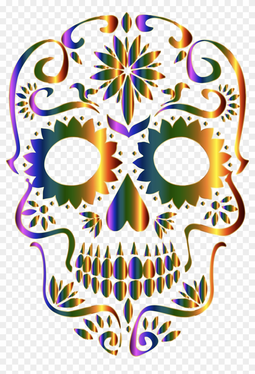 Day of the dead sugar skull clipart picture royalty free library Sugar Skull Clipart Transparent Background - Day Of The Dead No ... picture royalty free library