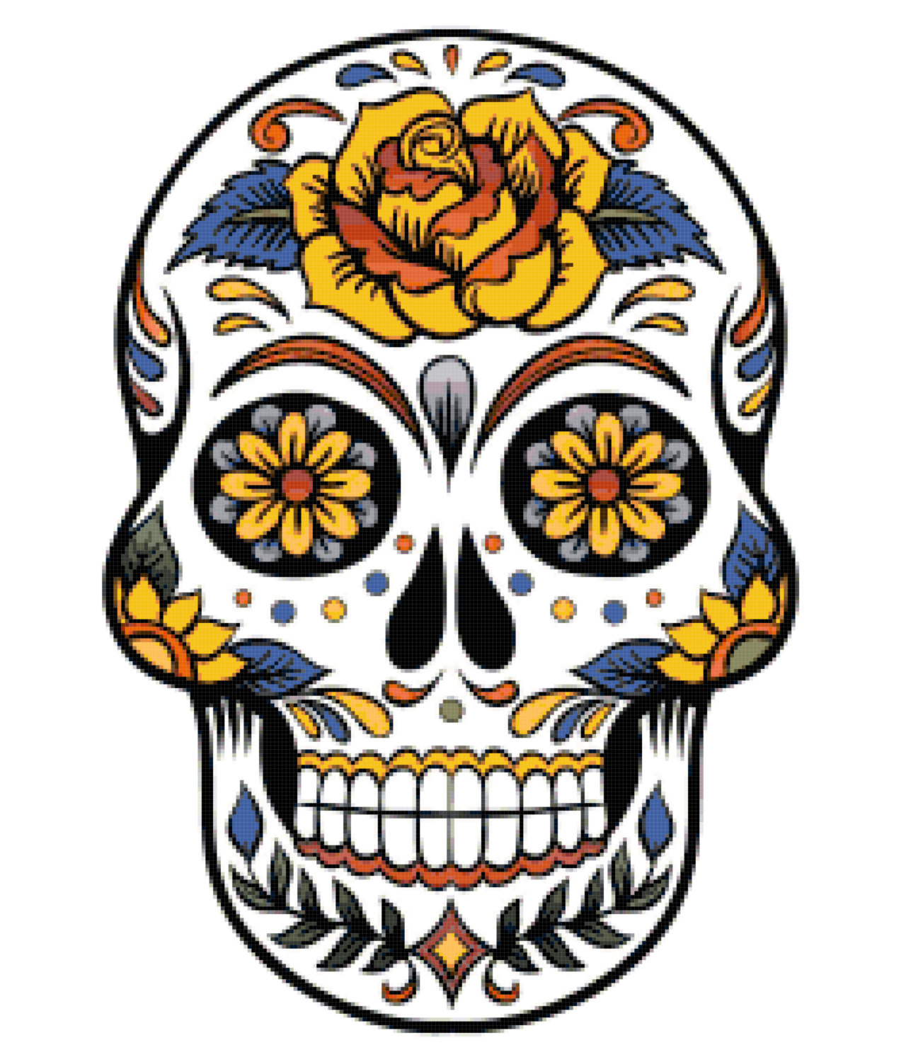 Day of the dead sugar skull clipart clip art royalty free Mexican Skull Clipart | Free download best Mexican Skull Clipart on ... clip art royalty free