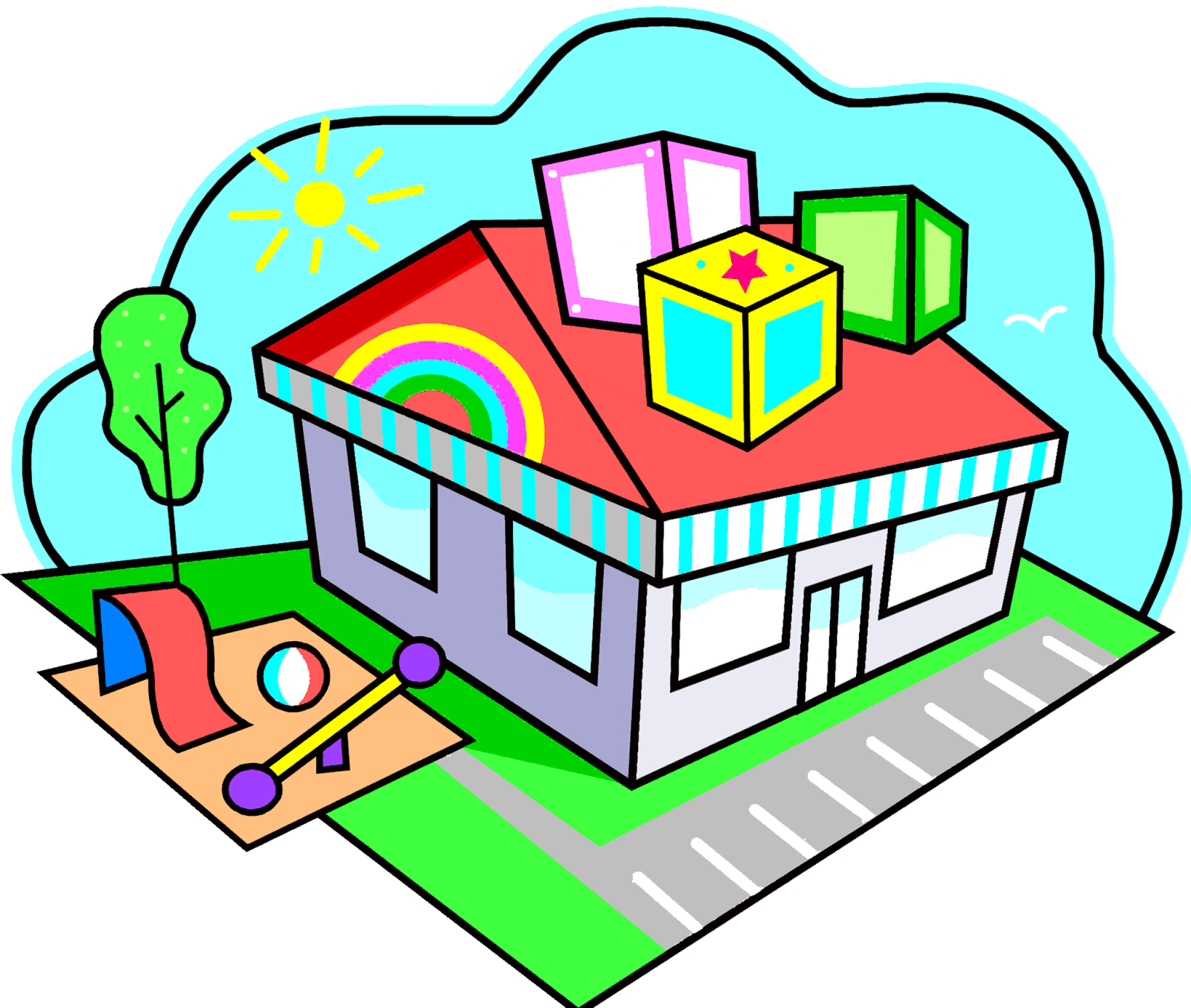 Preschool house clipart vector Child care Adult daycare center Clip art - child 1600*1354 ... vector