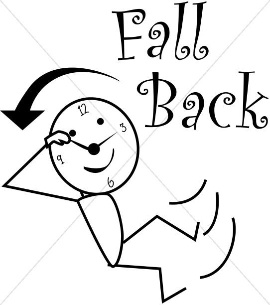 Daylight savings clipart fall back image royalty free Fall Back Daylight Savings Stick Figure | Christian Calendar Clipart image royalty free