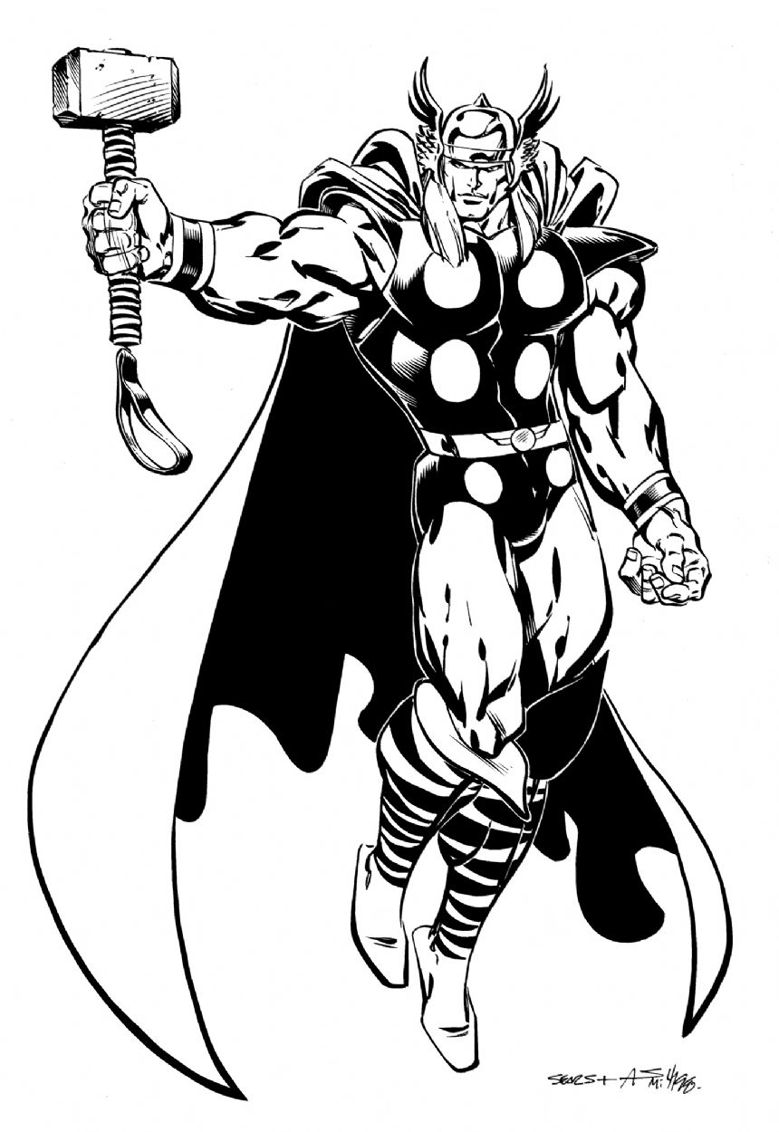 Dc comics clipart black and white marvel banner transparent download bart sears art | Art of Bart Sears | Thor, Comic books, Marvel comic ... banner transparent download