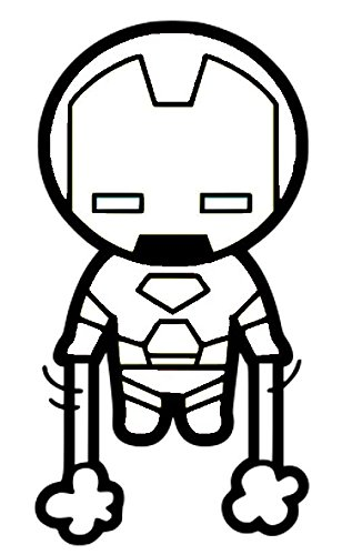 Dc comics clipart black and white marvel image black and white download Amazon.com: MARVEL COMICS CUTE IRONMAN SD STICKERS SYMBOL 6 ... image black and white download