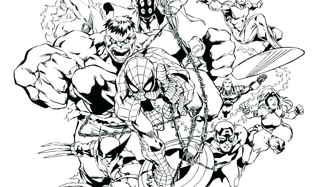 Dc comics clipart black and white marvel jpg freeuse stock marvel comics coloring pages – supertechtelecom.co jpg freeuse stock