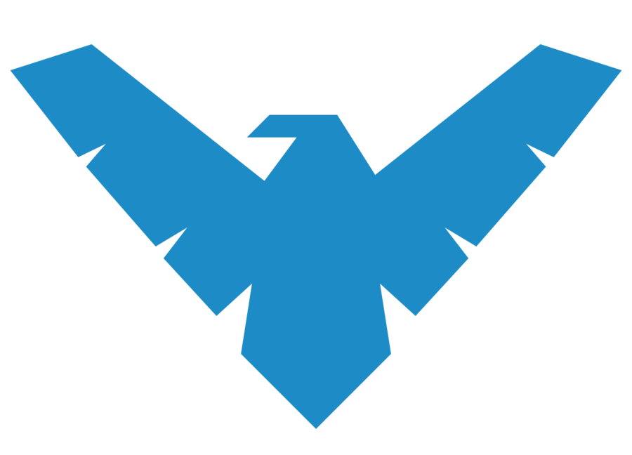Dc nightwing insignia clipart black and white png library download Nightwing Logo by ~MachSabre on deviantART | Printables and Graphics ... png library download