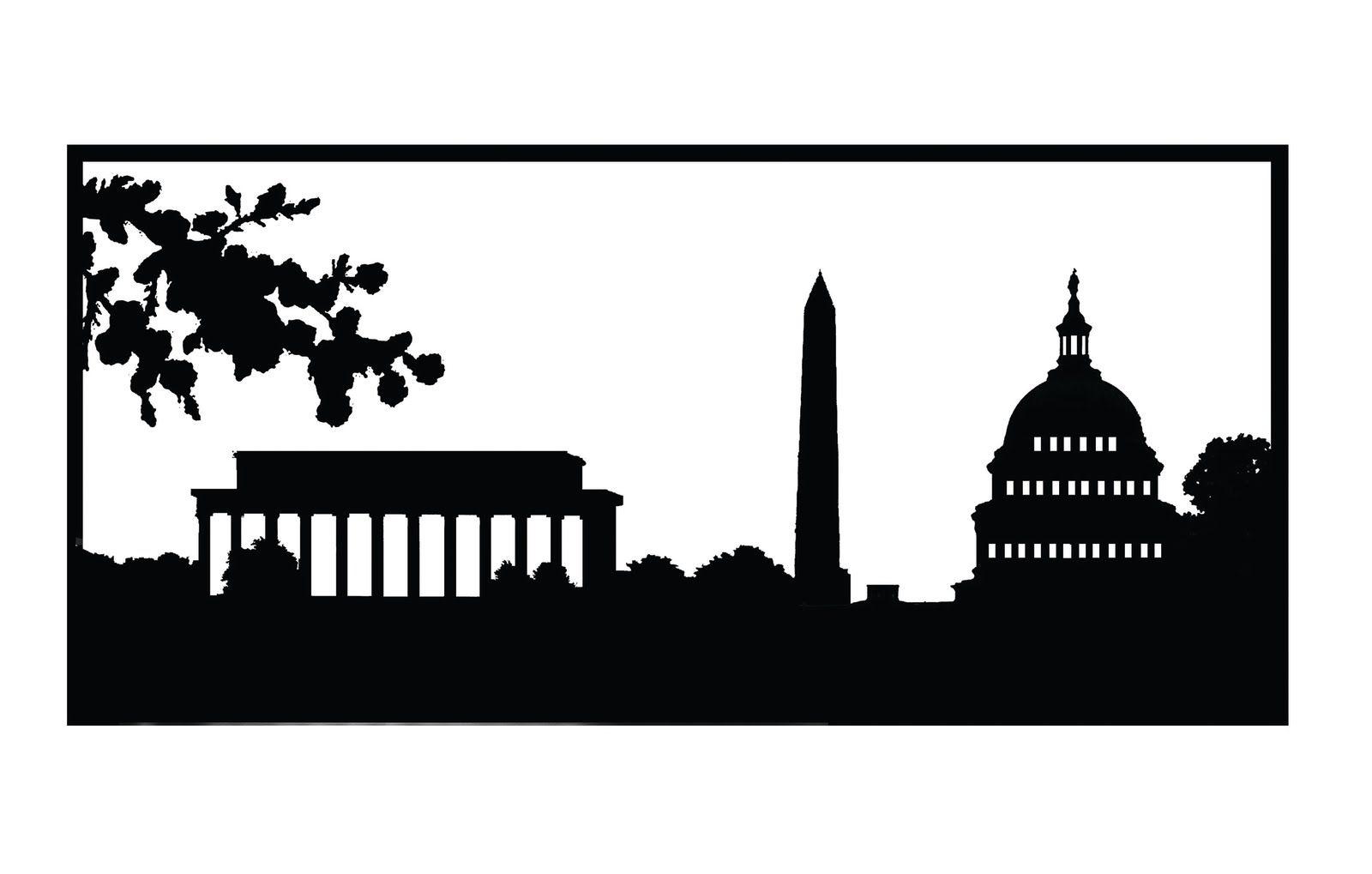 Dc skyline clipart graphic transparent download Washington, DC | SVG / Die Cutting | Skyline painting, Washington dc ... graphic transparent download