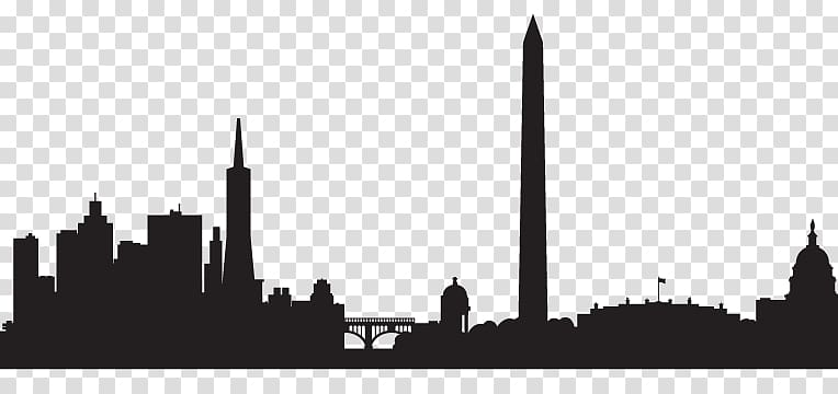 Dc skyline clipart clip free stock Skyline Silhouette Drawing Washington, D.C., Silhouette transparent ... clip free stock