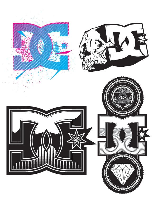 Library of logo dc shoes clipart transparent library png