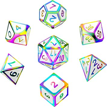 D&d dice picture clipart picture black and white 7 Pieces Metal Dices Set DND Game Polyhedral Solid Metal D&D Dice Set with  Storage Bag and Zinc Alloy with Enamel for Role Playing Game Dungeons and  ... picture black and white