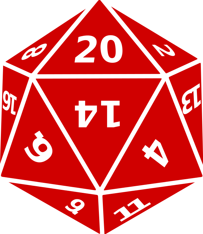 D&d dice picture clipart image transparent library File:Twenty sided dice.svg - Wikimedia Commons image transparent library