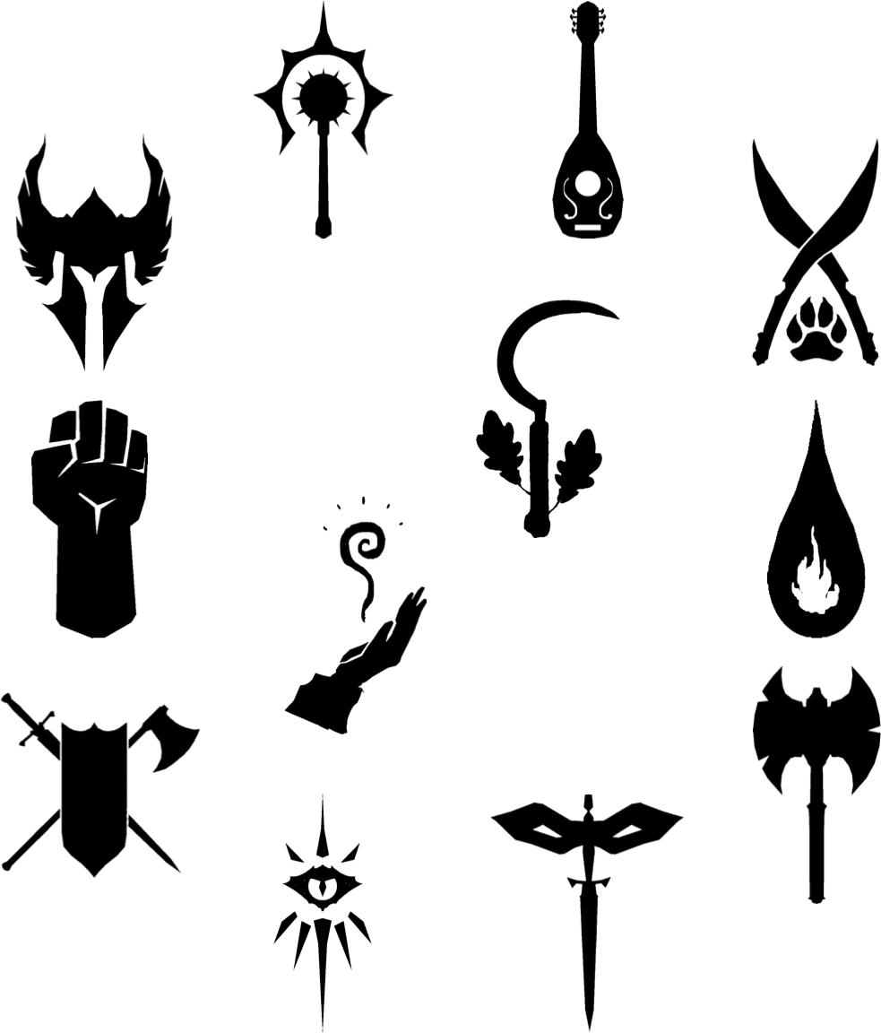 D&d logo clipart jpg download D&D 5e class symbols | Tattoos in 2019 | Dragon icon, Dungeons ... jpg download
