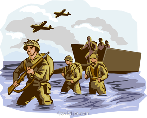 Dday clipart graphic library download D-Day Normandy WWII Royalty Free Vector Clip Art illustration ... graphic library download