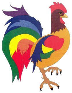 De colores rooster clipart svg library stock De colores rooster clipart 8 » Clipart Portal svg library stock