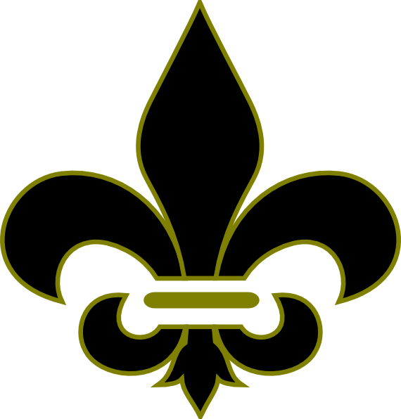 New orleans saints football clipart graphic free library Fleur De Lis Clip Art at Clker.com - vector clip art online, royalty ... graphic free library
