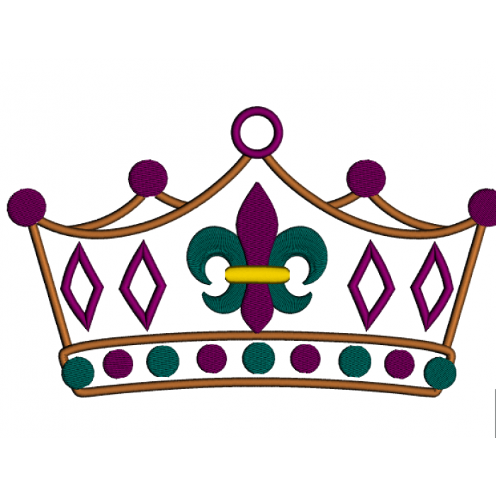 Mardi gras crown clipart vector transparent library Fleur De Lis Crown PNG Transparent Fleur De Lis Crown.PNG Images ... vector transparent library