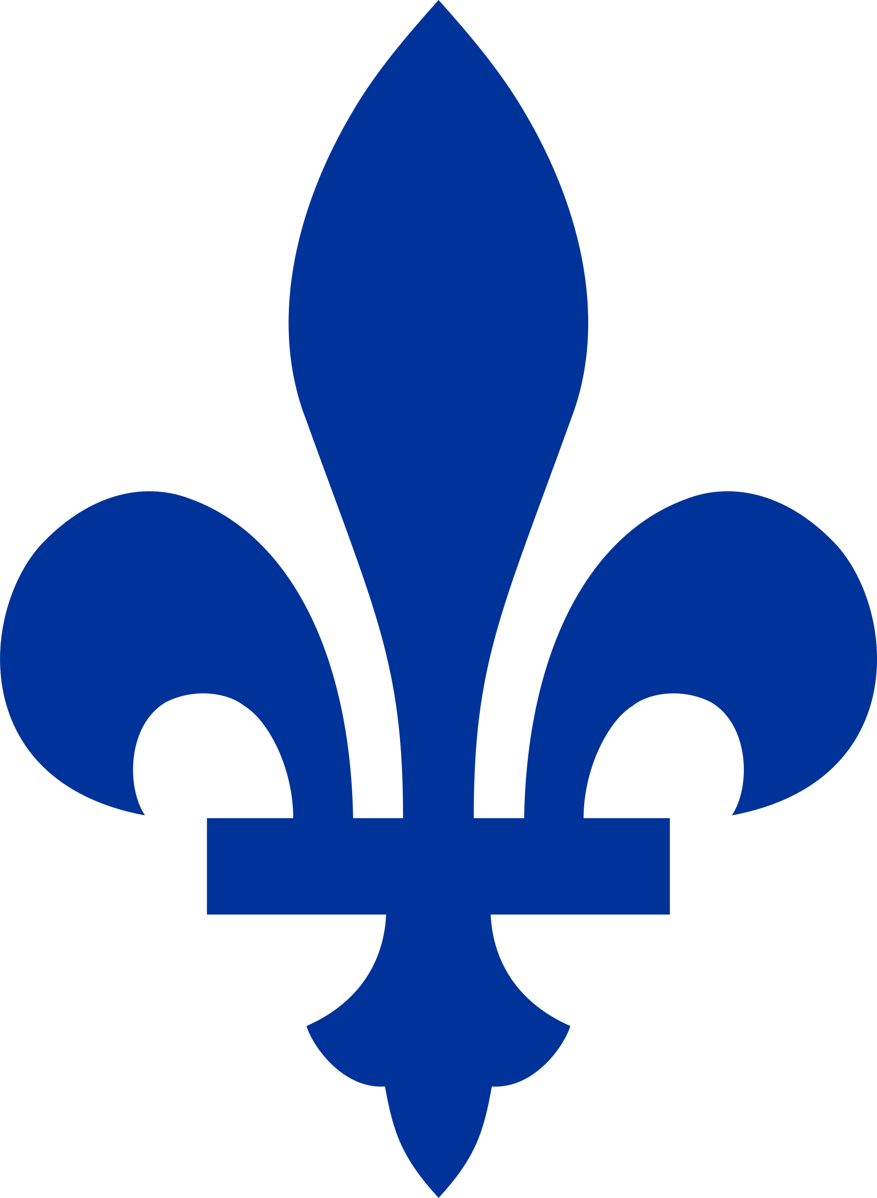 Du drapeau qu bec. Fleur de lis and elegant crown clipart