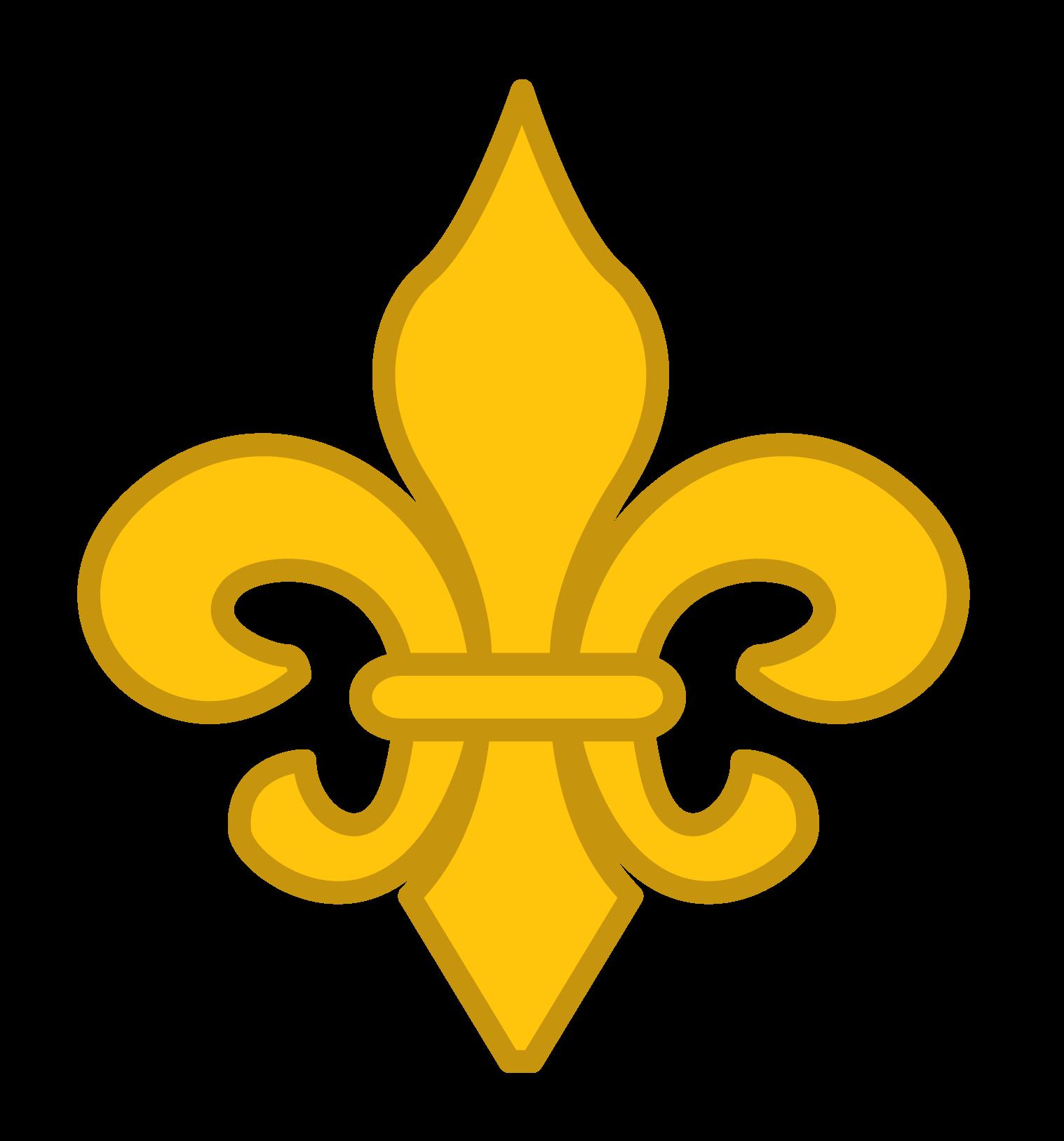 Fleur d lis clipart vector freeuse stock Simple Gold Fleur de Lis Clip Art - New Orleans Free Vector Clip Art vector freeuse stock