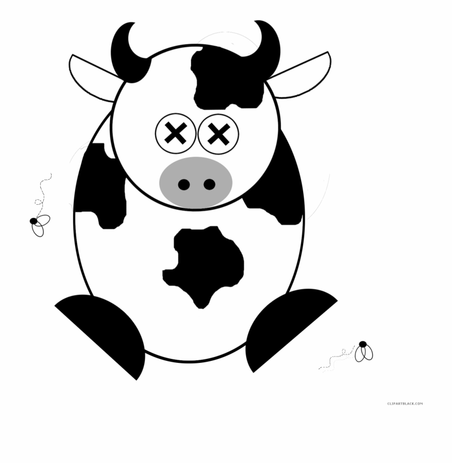 Dead animal clipart image royalty free stock Cartoon Cow Animal Free Black White Clipart Images - Dead Cow ... image royalty free stock