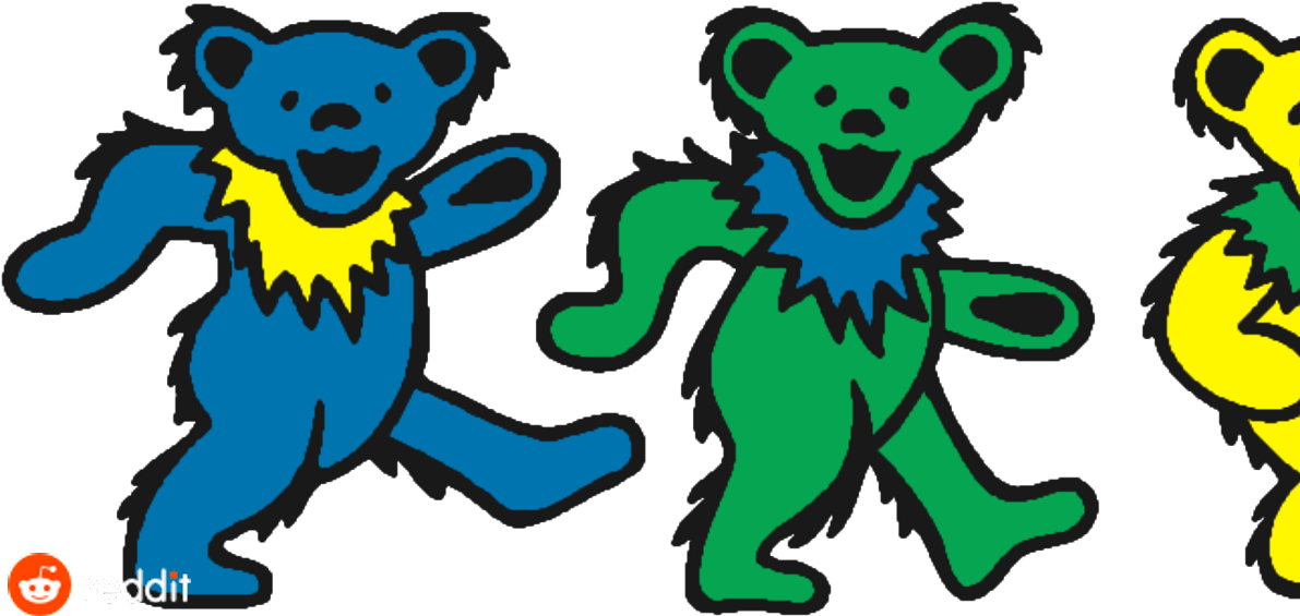 Dead bear clipart png download After How Much - Dancing Bears Grateful Dead , Transparent Cartoon ... png download