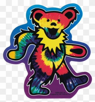 Dead bear clipart clip art freeuse download Grateful Dead 5 Dancing Bears Sticker Clipart - Full Size Clipart ... clip art freeuse download