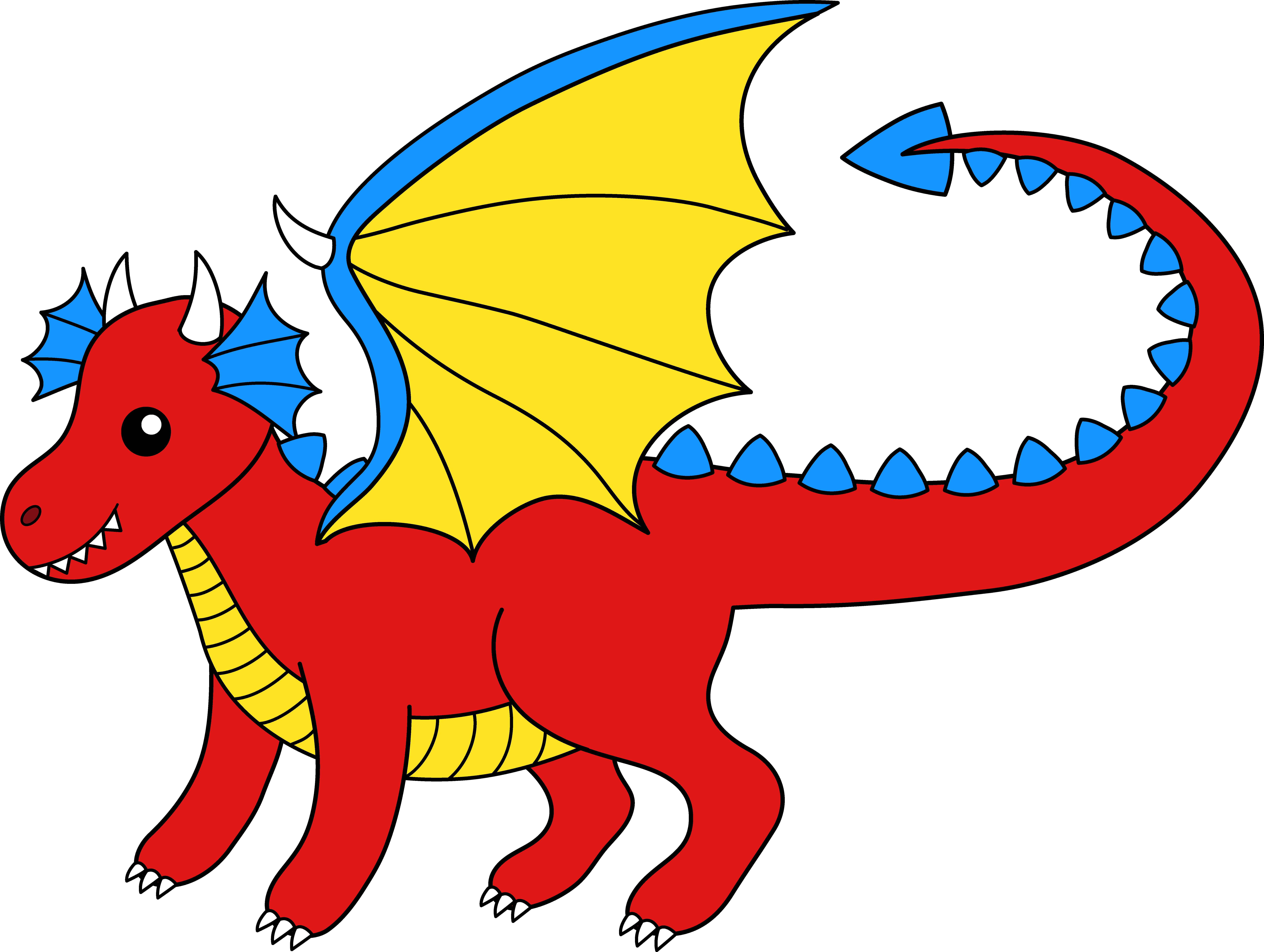 Free dragon clipart kids jpg black and white download Free Dragon Cliparts, Download Free Clip Art, Free Clip Art on ... jpg black and white download