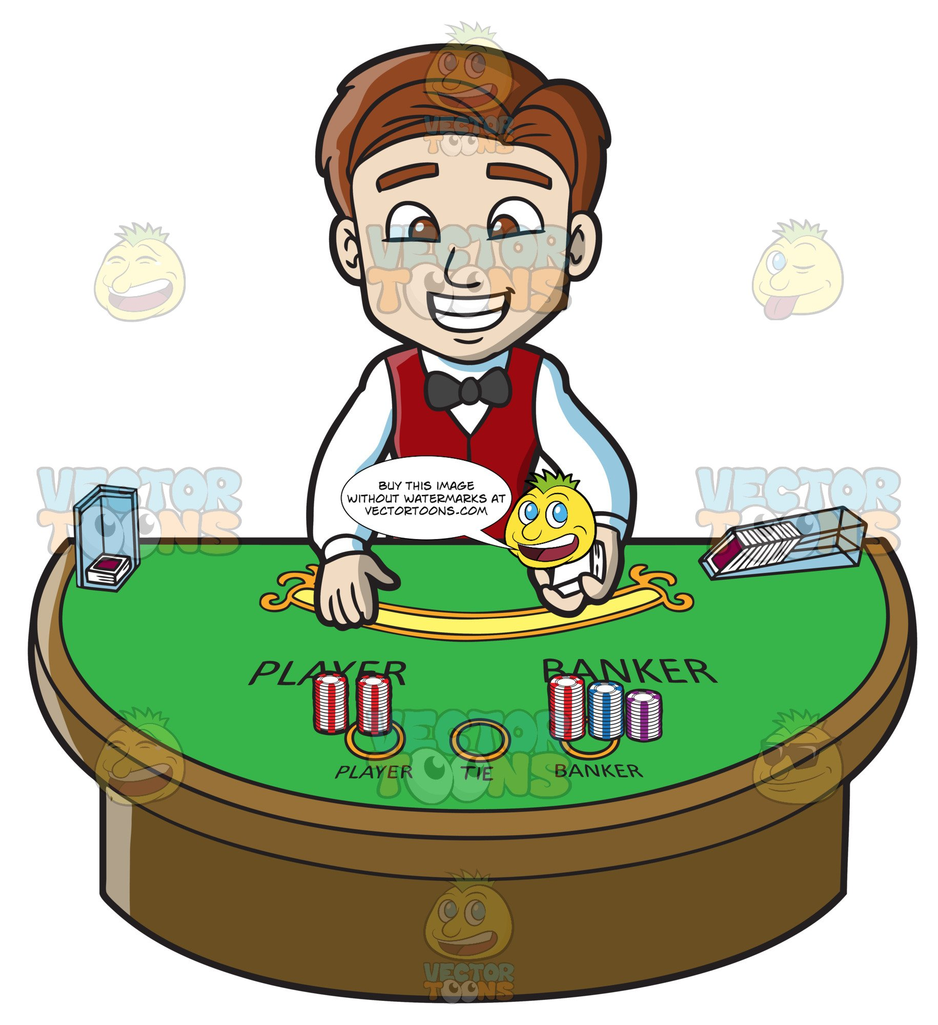 Dealers clipart picture free download A Friendly Male Casino Dealer picture free download