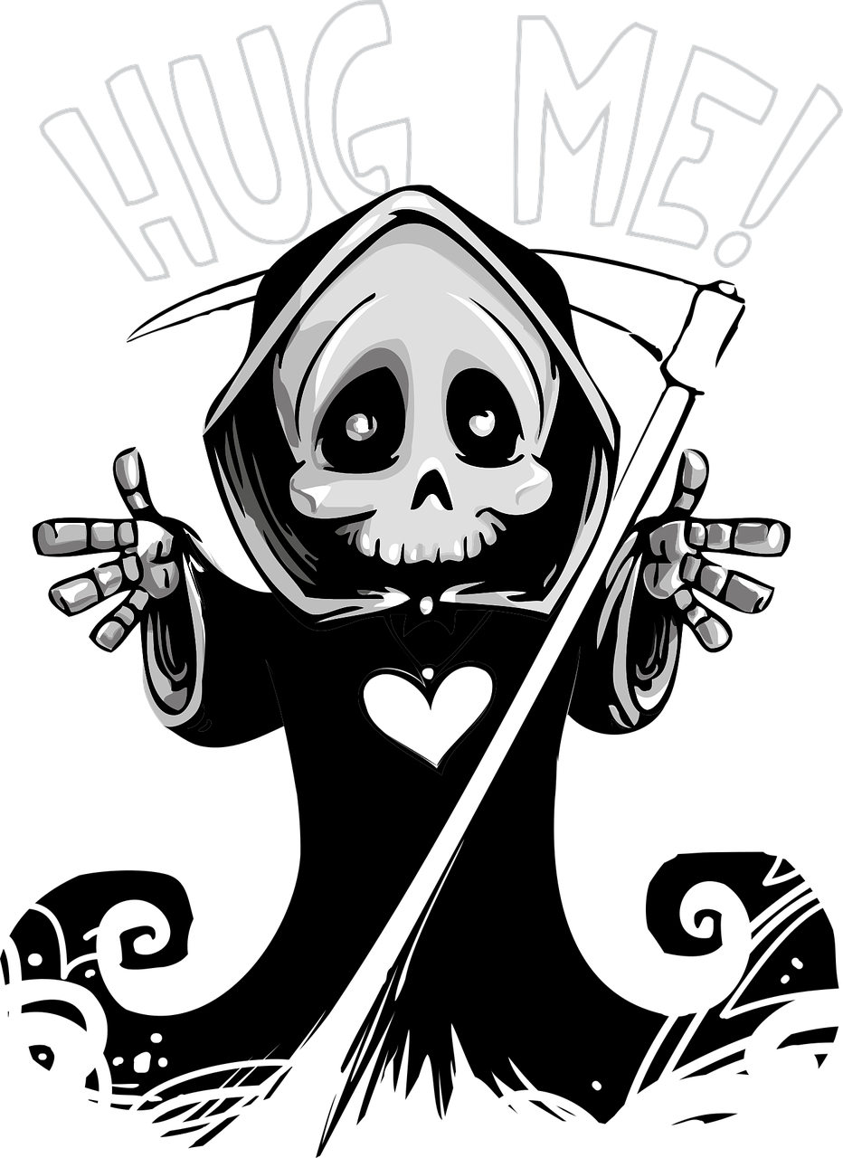 Library of halloween svg black and white stock grim reaper ...