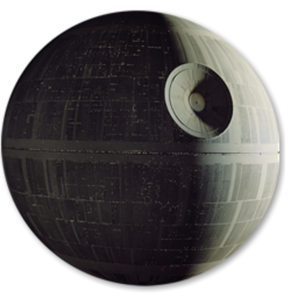 Death star clipart black and white library Death Star 1st Icon | Free Images at Clker.com - vector clip art ... black and white library